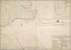 A Plan of Tinmouth Town and Castle and Clifford Fort, scituate at the Entrance of the River Tine